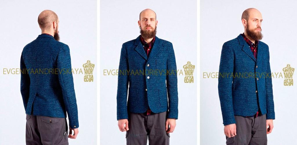 Пиджак для Олега. Стильный пиджак без подклады – швы обработаны косой лентой.